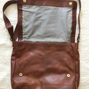 Handbags - Cognac Real Leather Shoulder Strap Bag
